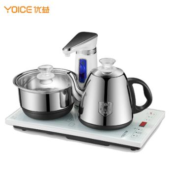 优益 全自动上水电热水壶 YC607 304不锈钢保温电水壶上水