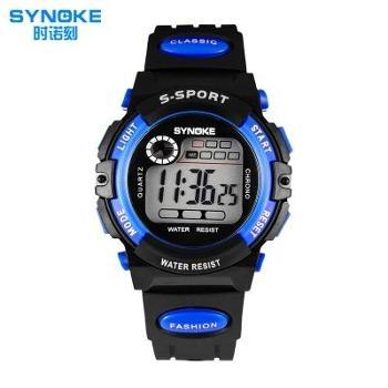 时诺刻 多功能运动儿童手表男孩 青少年男生中学生防水夜光电子表