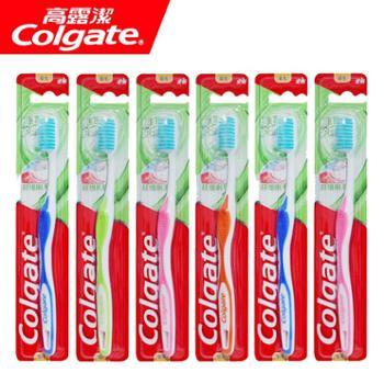 高露洁牙刷 细毛护龈成人牙刷6支 口腔清洁牙刷 包邮