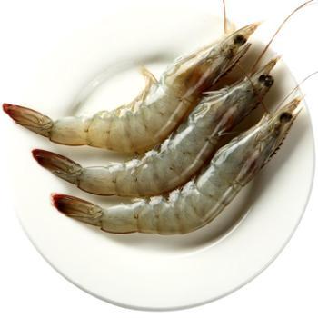 大洋世家厄瓜多尔白虾2kg进口海鲜40/50规格新鲜活冻原装