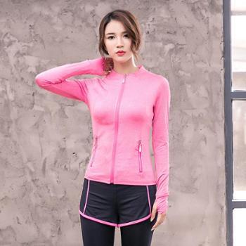 新款韩版新款时尚运动外套女修身休闲健身外套春季新款c06