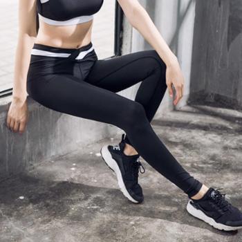 新款瑜伽裤女紧身立体感拼接健身长裤瑜伽服女士运动裤运动服长裤瑜伽裤