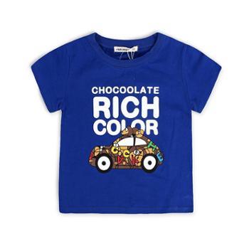 儿童夏季新款卡通T恤衫上衣棉质打底衫男童体恤中大童宽松夏装潮