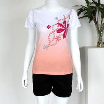 2019新款夏装上衣短袖t恤女 圆领修身半袖打底衫舒适百搭女士体恤