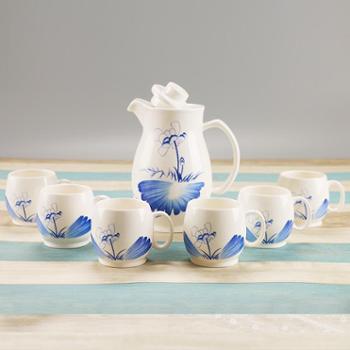 艺佳兴 青花瓷茶具套装 创意陶瓷冷水壶凉水壶 黄酒烫酒壶