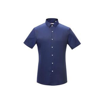 【虾想定制】巴顿商务休闲短袖衬衫