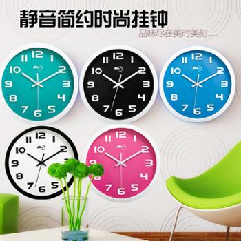 美时静音挂钟卧室客厅现代办公墙表时尚时钟挂表简约创意石英钟表