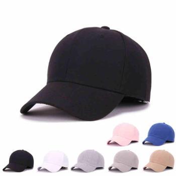 纯色棒球帽黑色鸭舌帽女秋男女士情侣嘻哈街舞帽子休闲夏季遮阳帽