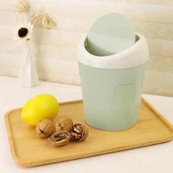 迷你家用客厅桌上翻盖摇盖垃圾筒创意收纳桶小号带盖桌面垃圾桶