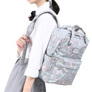 时尚女包清新学生书包学院风帆布尼龙双肩包cx-m5377