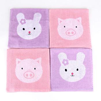 洁丽雅(Grace)E3073童巾纯棉提花儿童毛巾全棉洗脸小毛巾48g/条 4条装