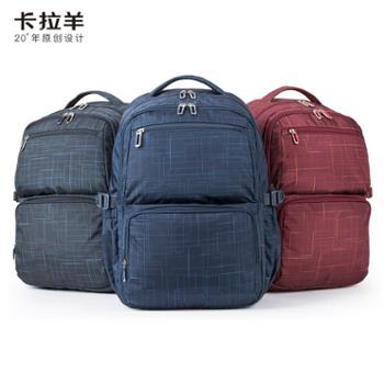 卡拉羊休闲双肩包大容量背包学生电脑包运动学生书包旅行背包5007