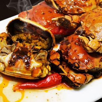 香辣蟹盒装大小螃蟹开罐即食零食麻辣蟹熟食大闸蟹500g