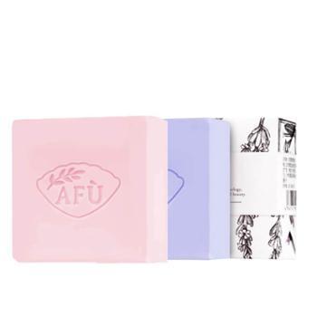 AFU阿芙手工皂套装薰衣草精油皂100g+玫瑰精油皂100g温和清洁保湿洗脸皂