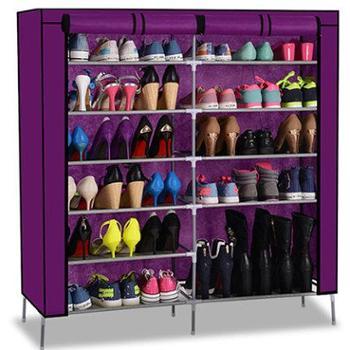 壹柜 简易鞋架加厚无纺布鞋架 防尘多层收纳创意鞋柜 特价包邮