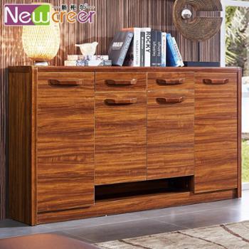 新柜尔 玄关实木鞋柜 烤漆大容量超薄隔断储物柜 简约现代门厅柜