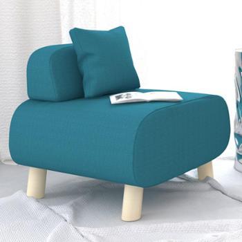 亿家达懒人沙发单人小沙发布艺沙发凳子休闲沙发椅简约现代懒人椅