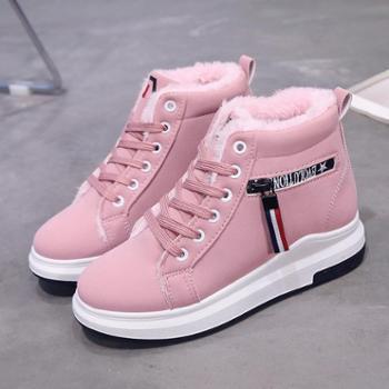 鑫耐特新款冬季加绒高帮鞋休闲百搭棉鞋潮流显瘦保暖女鞋X85