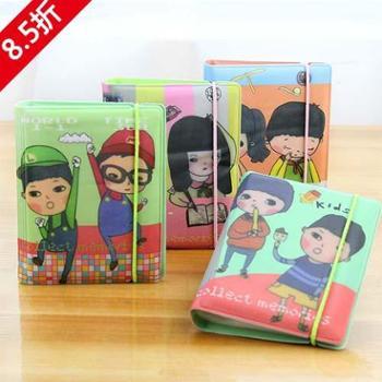 尚派~ 卡通旧梦拾光女士 多用韩版童年可爱32位卡包 三个