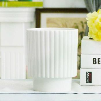 白色蓝色简约现代陶瓷花瓶家居装饰组合摆件3号