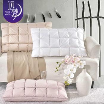 远梦家纺枕头优品面包鹅绒枕柔软枕芯舒适枕芯单只装床上用品
