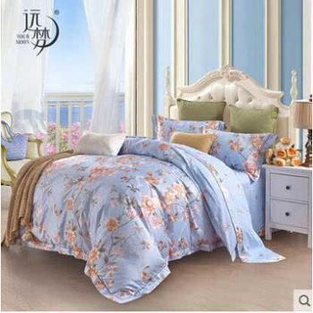 远梦四件套全棉1.5米1.8m床4件套花卉提花套件床单被套床上用品