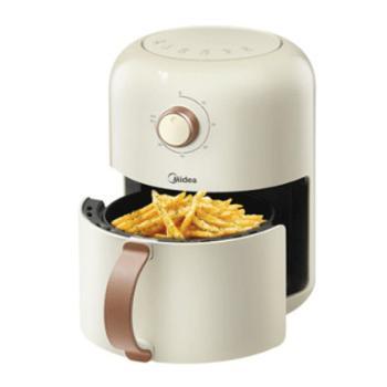 美的空气炸锅家用无油薯条机复古全自动1.8L大容量智能