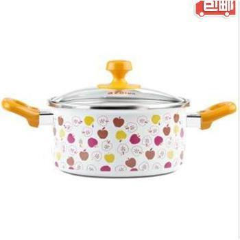 多彩苹果贴花两件套AT1210-02汤锅奶锅