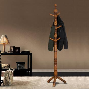 简约衣帽架落地实木挂衣架创意卧室衣架
