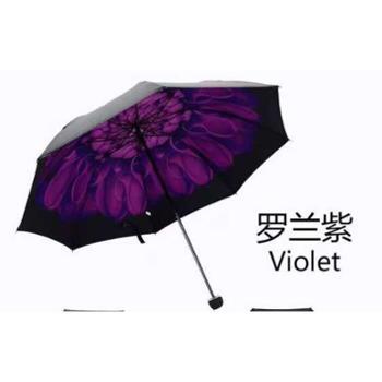防嗮小黑布防紫外线伞晴雨伞单层遮阳伞创意太阳伞