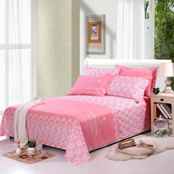 锦华家纺 纯棉印花床单 全棉双人印花床单 单件双人纯棉床单 不起球不掉色床单