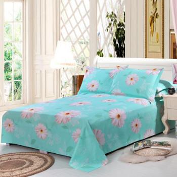 锦华家纺 纯棉双人床单 全棉印花床单 单件床单 纯棉床上用品