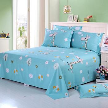 锦华家纺全棉床单1.5米床单单件儿童学生宿舍斜纹床单