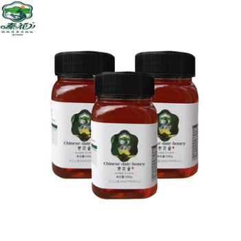 秦花枣花蜜农家自产枣花蜂蜜500克*3瓶