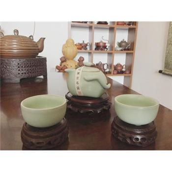 每个ID限购一件【展艺】精品茶具 正品汝窑套装茶具 旅行茶具三件套