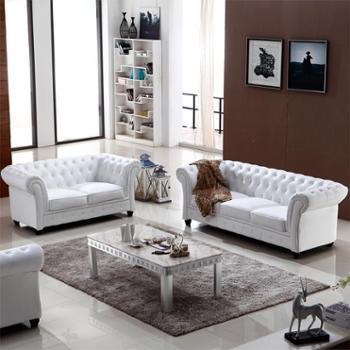 特价简约欧式真皮沙发组合现代客厅小户型皮艺sofa定做998