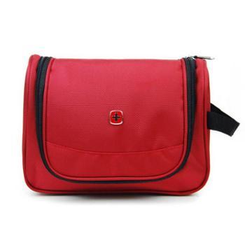 正品瑞士军刀SWISSGEAR商务休闲型1680配PU耐磨防水牛津料全功能洗漱包手提包红色