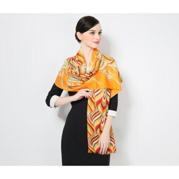 2016新款羊毛披肩女超大规夏季空调巾礼品围巾波普艺术