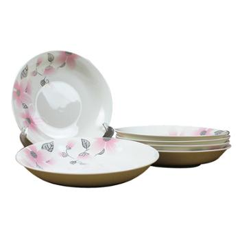 应州正东陶瓷餐具圆形7寸餐盘6个装