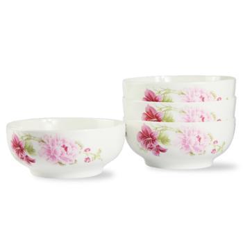 应州正东陶瓷餐具6寸碗4只韩式碗米饭碗面碗大饭碗