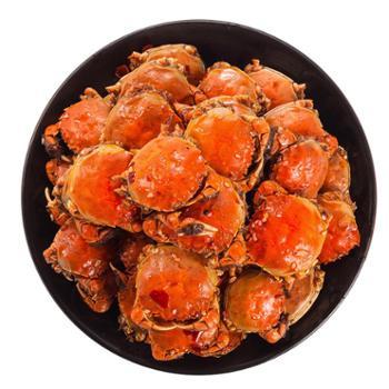 大纵湖香辣蟹罐装大闸蟹麻辣小闸蟹钳零食海鲜熟食秘制小螃蟹包邮
