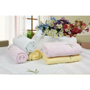 竹纤维毛巾 天琴竹纤维素色毛巾