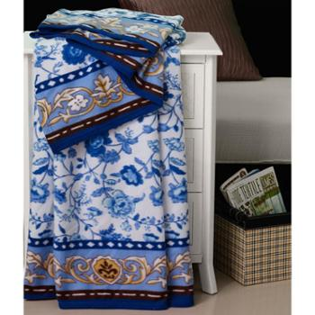 天琴时尚丝绒毯