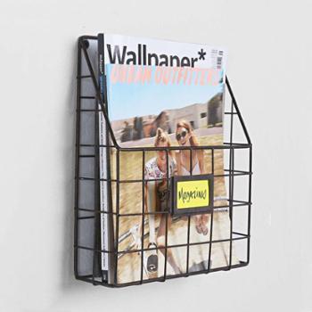现代简约办公室杂志架书报架报刊架铁艺架子壁饰壁挂