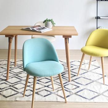 多色舒适北欧创意实木椅子单人椅写字椅沙发椅原木咖啡椅简约餐椅