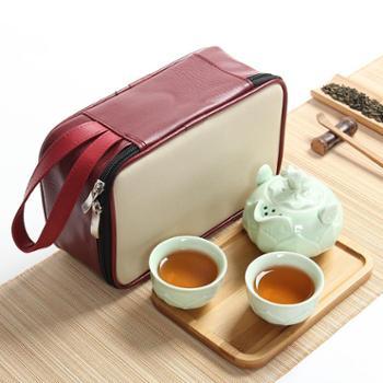 景德镇茶具 加厚不烫手 家用陶瓷茶壶便携旅行功夫茶具套装礼