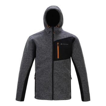 新款阿尔派妮AlpinePro户外男式连帽防风抓绒衣保暖夹克MPLF013
