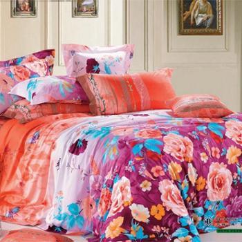 典尚家纺正品全棉纯棉活性印花床上四件套婚庆床品家纺套件