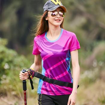 户外速干T恤男长袖夏季薄款透气跑步登山运动情侣速干衣女短袖