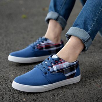 新款韩版男鞋潮流休闲板鞋春季男士帆布鞋透气运动滑板鞋单鞋子潮